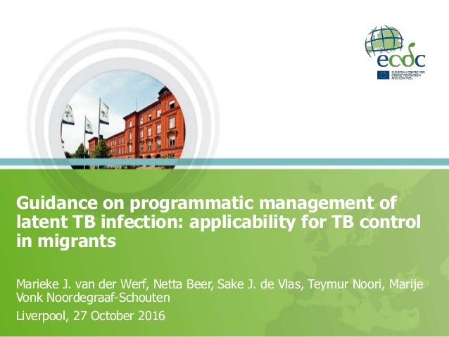 Guidance on programmatic management of latent TB infection: applicability for TB control in migrants Marieke J. van der We...