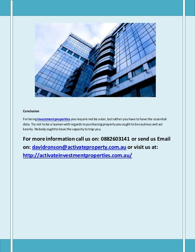 Property investment advisors adelaide forex weekly newsletter for parents