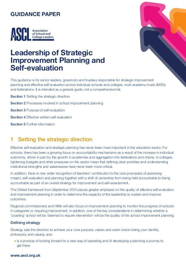 Leadership plan and self assessment
