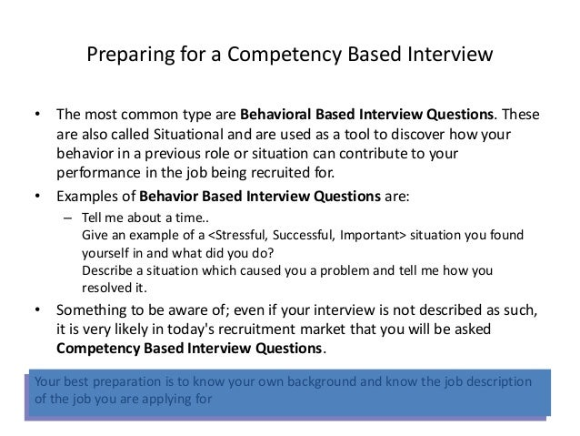 Guidance Tools Competency Based Interviews