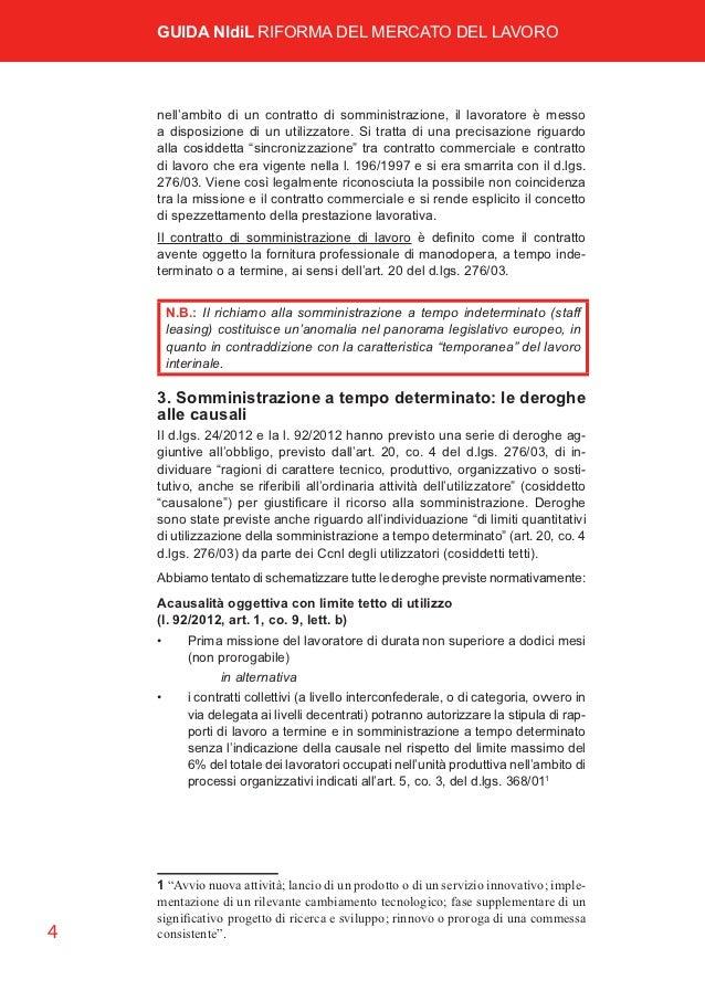 Guida nidil cgil riforma mercato del lavoro for Contratto di locazione 4 4 modello