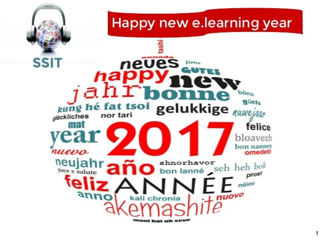 1 Happy new e.learning year SSIT