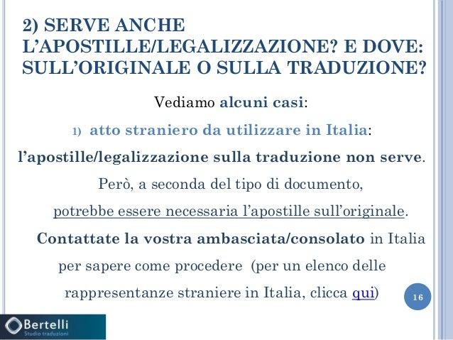 Legalizzazioni - Ambasciata d'Italia