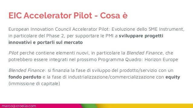 Guida rapida EIC Accelerator Pilot Slide 2