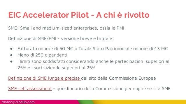 Guida rapida EIC Accelerator Pilot Slide 3