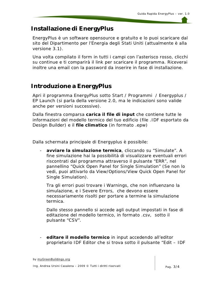 energyplus guida manuale veloce rh slideshare net Manual E Instrument Trabajos Manuales Gratis