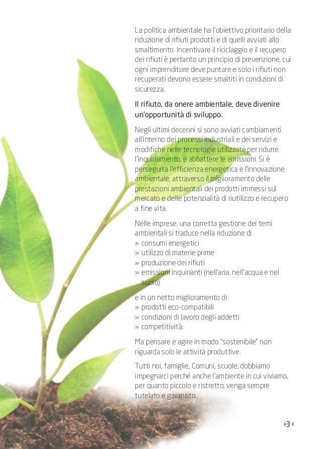 Guida pratica alla gestione dei rifiuti nelle imprese Slide 3