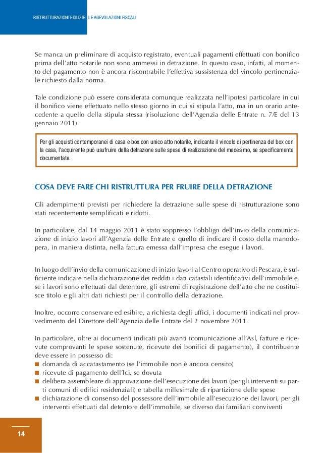 Guida ristrut 06 2013 for Acquisto box pertinenziale detrazione 50 agenzia entrate