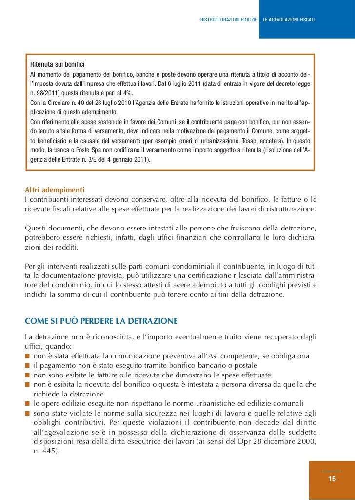 Guida ristrutturazioni edilizie agosto 2012 for Agenzia delle entrate ristrutturazioni edilizie