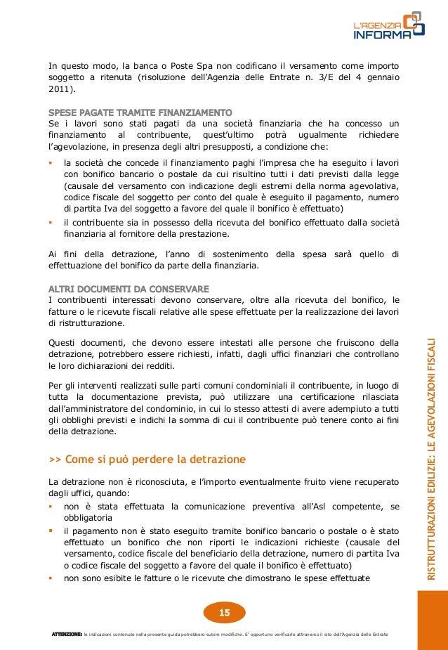 Fattura per lavori di ristrutturazione for Agenzia delle entrate ristrutturazioni edilizie