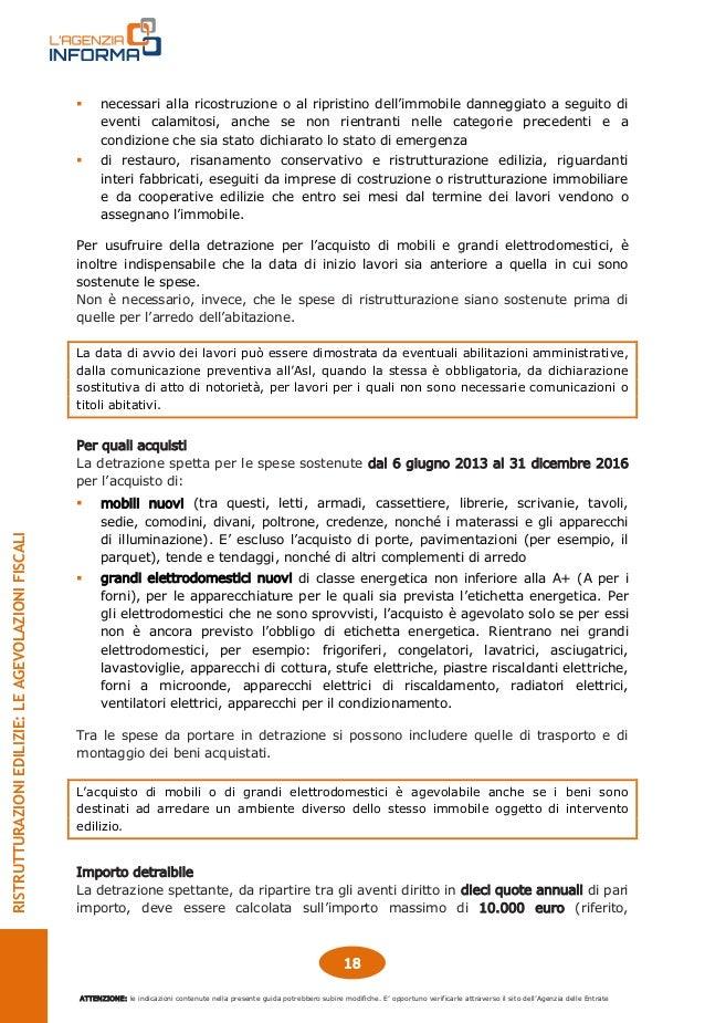 Agenzia delle Entrate, guida 2016 ristrutturazioni edilizie
