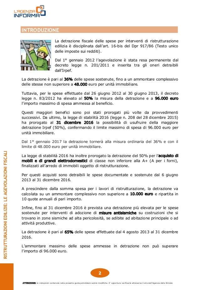 Agenzia delle entrate guida 2016 ristrutturazioni edilizie - Guida fiscale ristrutturazione ...