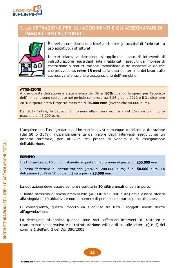 Guida ristrutturazioni edilizie for Agenzia delle entrate ristrutturazioni edilizie