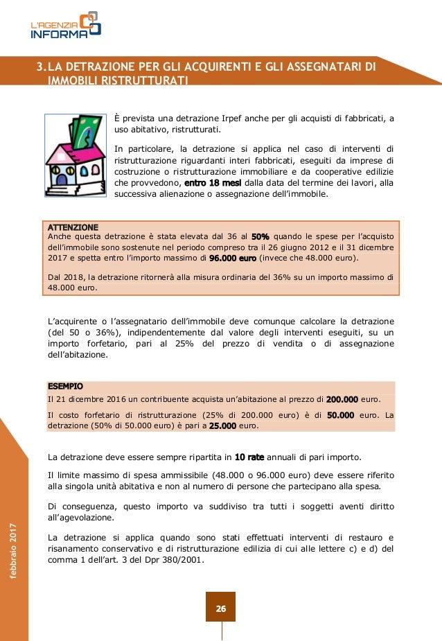 Guida ristrutturazioni edilizie 2017 for Spese arredo immobili ristrutturati