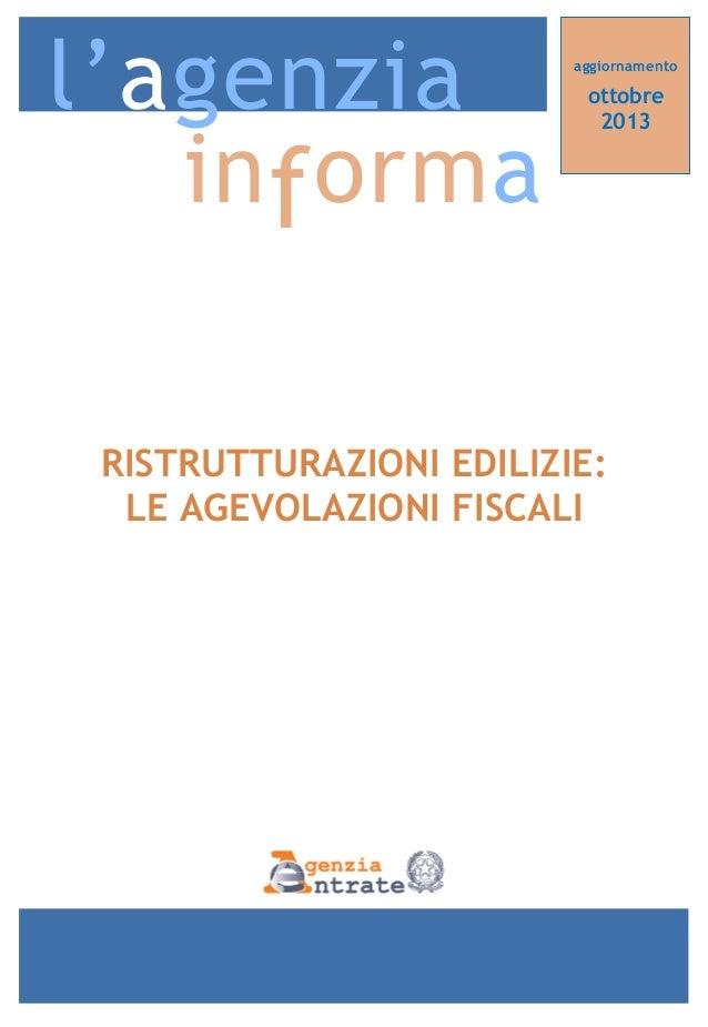 Agevolazioni fiscali per le ristrutturazioni edilizie 2013 for Guida ristrutturazioni