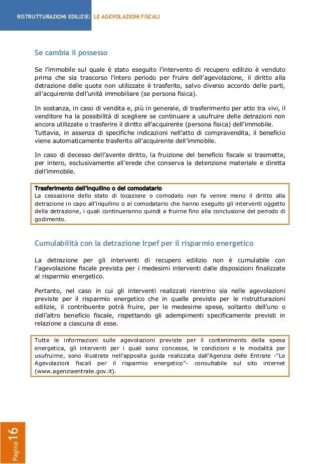 RISTRUTTURAZIONI EDILIZIE: LE AGEVOLAZIONI FISCALI ...