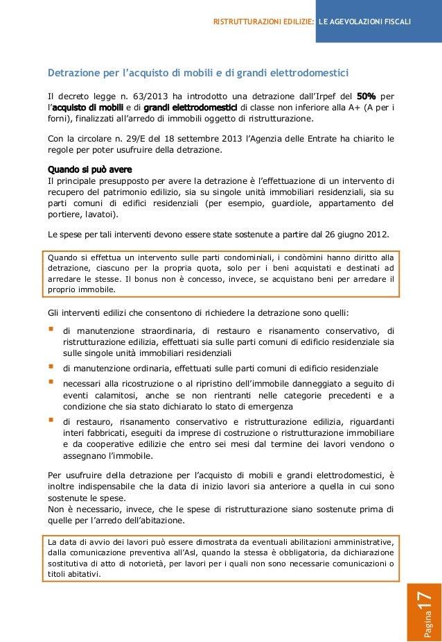 Agevolazioni fiscali per le ristrutturazioni edilizie 2013 for Fac simile autocertificazione per detrazione materasso