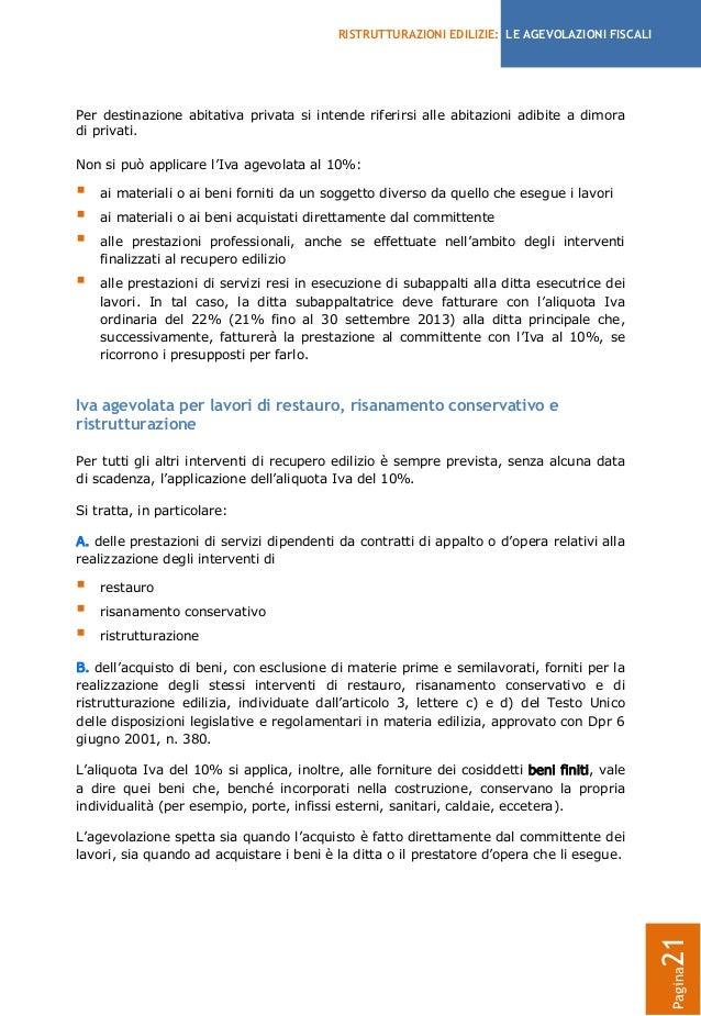 Agevolazioni fiscali per le ristrutturazioni edilizie 2013 - Dichiarazione iva 4 prima casa ...