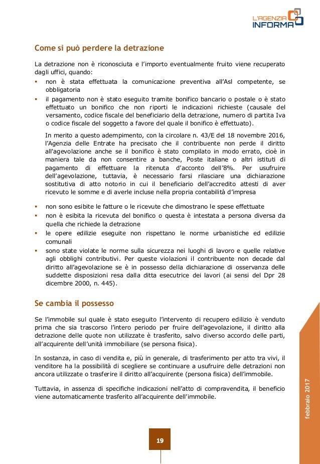 Comunicazione asl ristrutturazione 2017 - Guida fiscale ristrutturazione ...