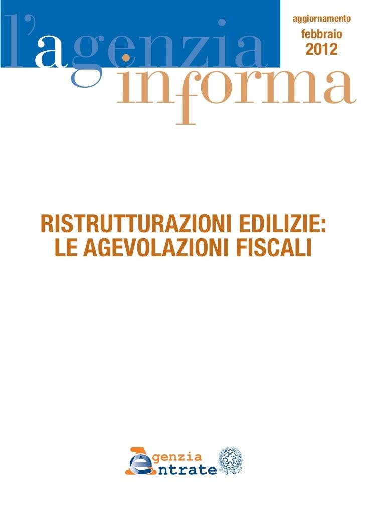 Guida ristrutturazioni edilizie 2012 for Guida ristrutturazioni