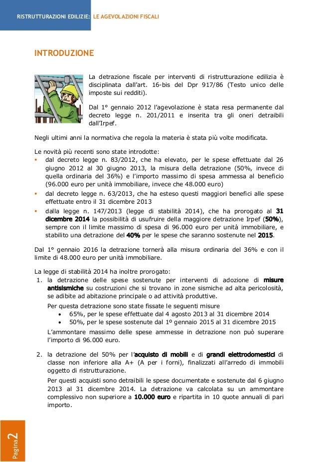 Guida agevolazioni fiscali per ristrutturazioni edilizie - Guida fiscale ristrutturazione ...