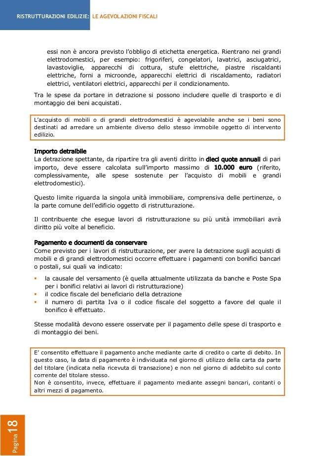 Guida detrazioni fiscali per le ristrutturazioni for Causale bonifico climatizzatore detrazione 50