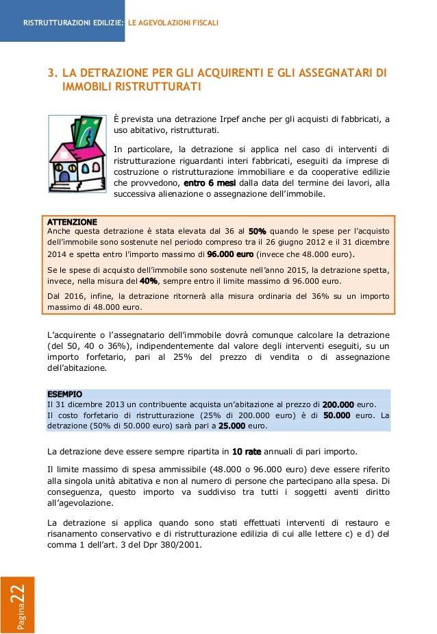 Guida detrazioni fiscali per le ristrutturazioni for Spese arredo immobili ristrutturati