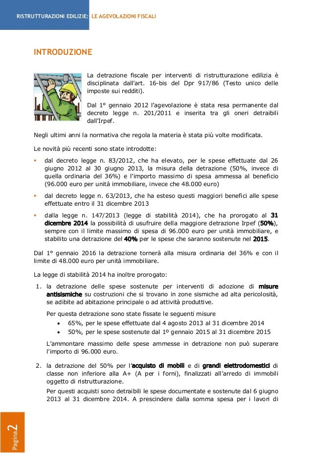 Guida detrazioni fiscali per le ristrutturazioni - Guida fiscale ristrutturazione edilizia ...