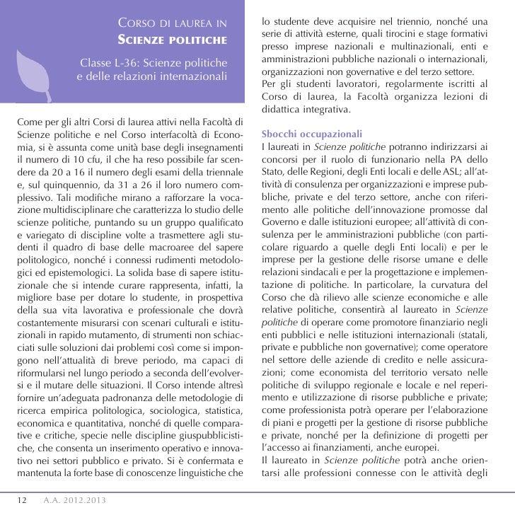 CORSO DI LAUREA IN                  lo studente deve acquisire nel triennio, nonché una                                   ...