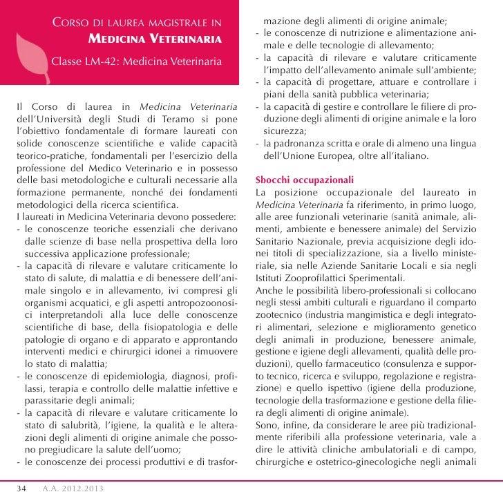 CORSO DI LAUREA MAGISTRALE IN                       mazione degli alimenti di origine animale;                            ...