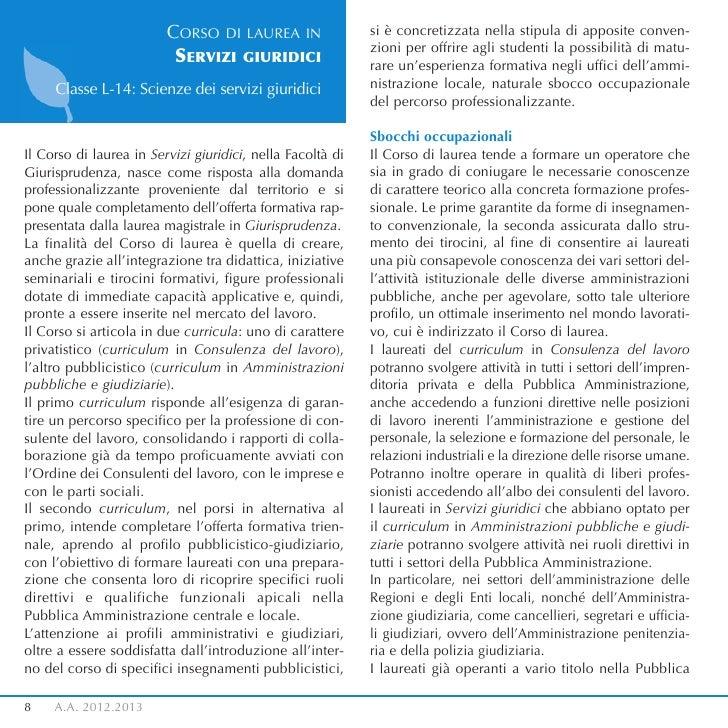 CORSO DI LAUREA IN                 si è concretizzata nella stipula di apposite conven-                                   ...