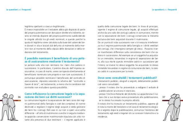 Guida successioni tutelate - Immobile intestato ad un solo coniuge in comunione dei beni ...