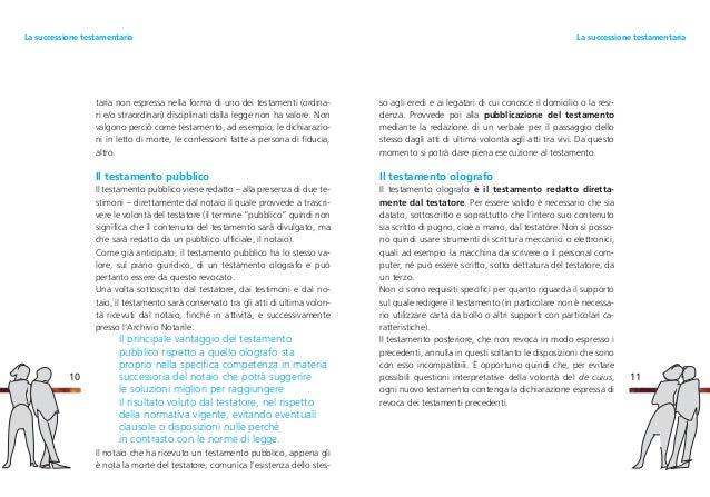 ... TestamentariaLa Successione Testamentaria; 7. So ...