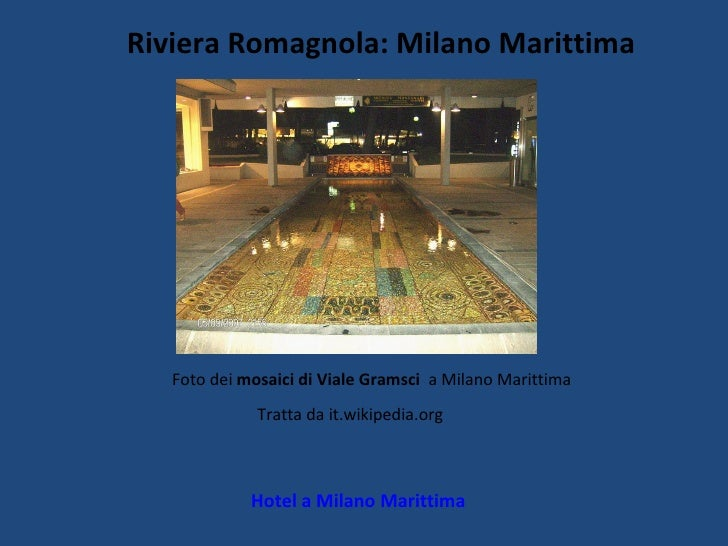 Riviera Romagnola: Milano Marittima Hotel a Milano Marittima Foto dei  mosaici di Viale Gramsci  a Milano Marittima Tratta...