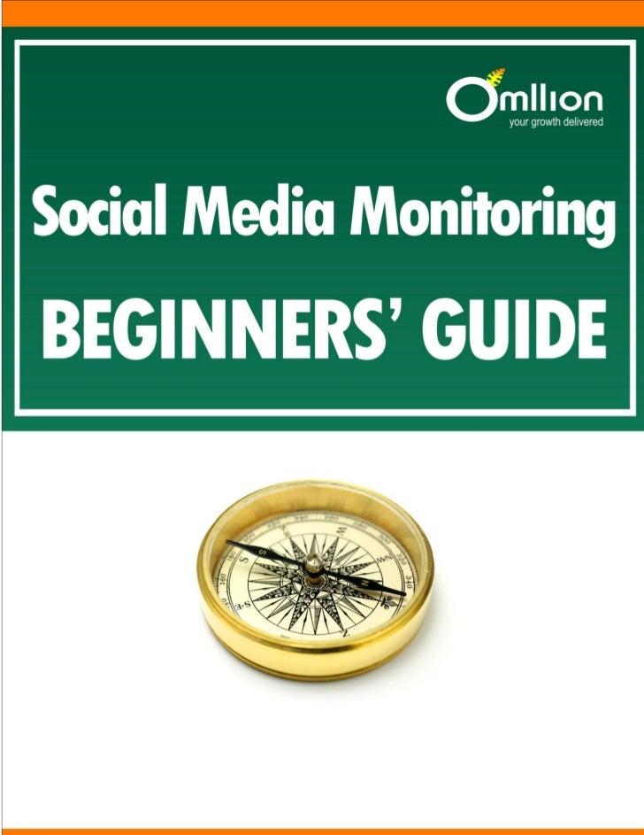 Social Media MonitoringBeginners' Guide                                                                                   ...
