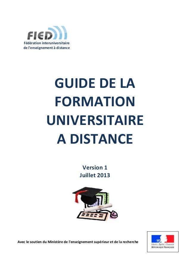 Avec le soutien du Ministère de l'enseignement supérieur et de la recherche Fédération interuniversitaire de l'enseignemen...