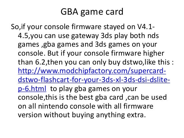 can you play gba games on 3ds