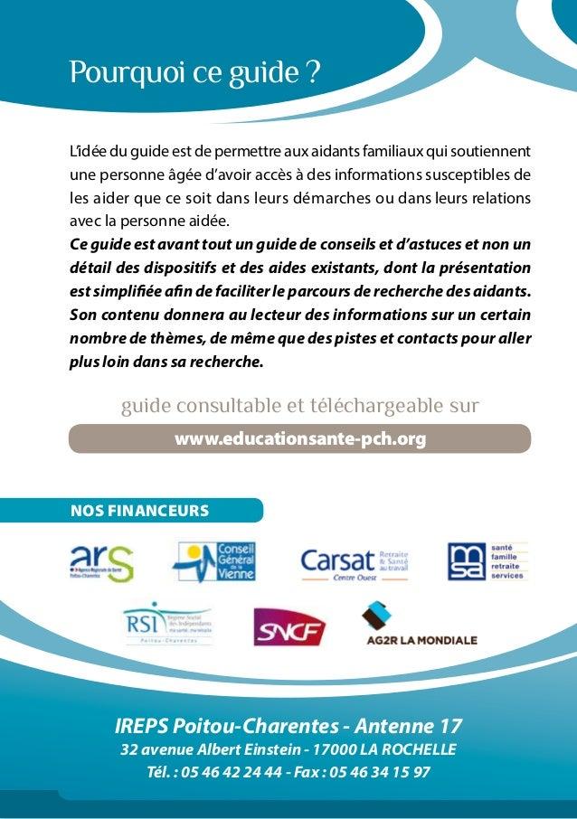 IREPS Poitou-Charentes - Antenne 17 32 avenue Albert Einstein - 17000 LA ROCHELLE Tél. : 05 46 42 24 44 - Fax : 05 46 34 1...