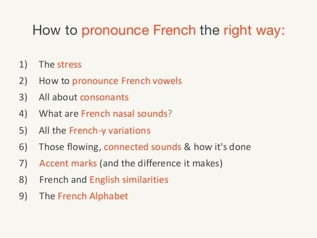 how to say vowels in french