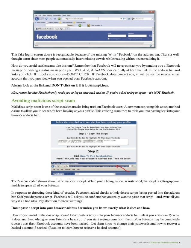Guide to facebook security