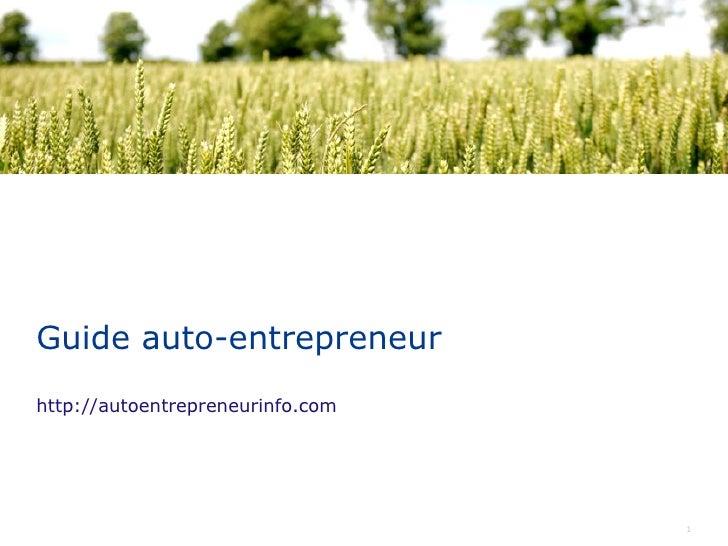 Guide auto-entrepreneur http://autoentrepreneurinfo.com