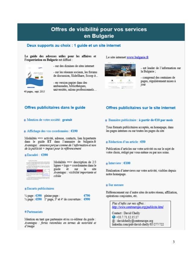 Guide des adresses utiles pour les affaires et l'expatriation en Bulgarie Slide 3