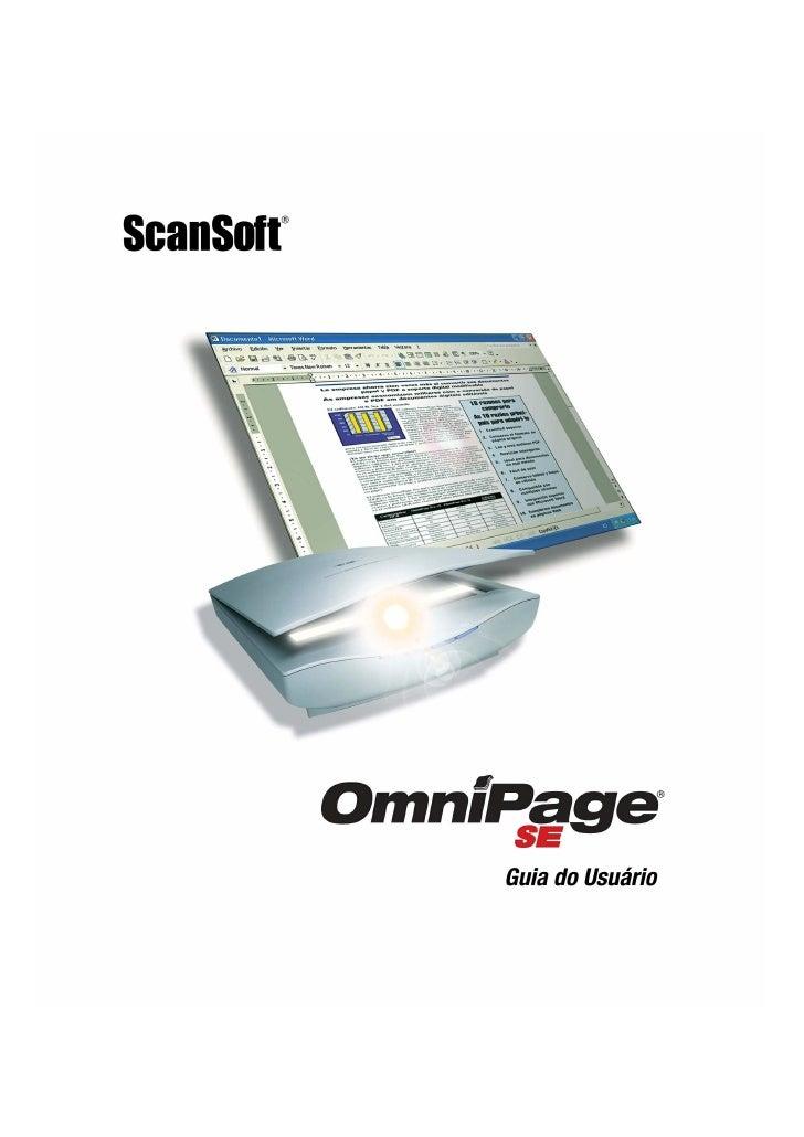 INFORMAÇÕES                      LEGAIS  Copyright © 2002 ScanSoft, Inc. Todos os direitos reservados. O software descrito...