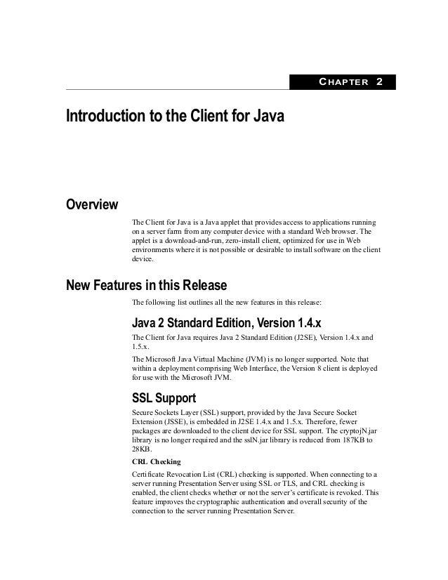 Citrix presentation server client software