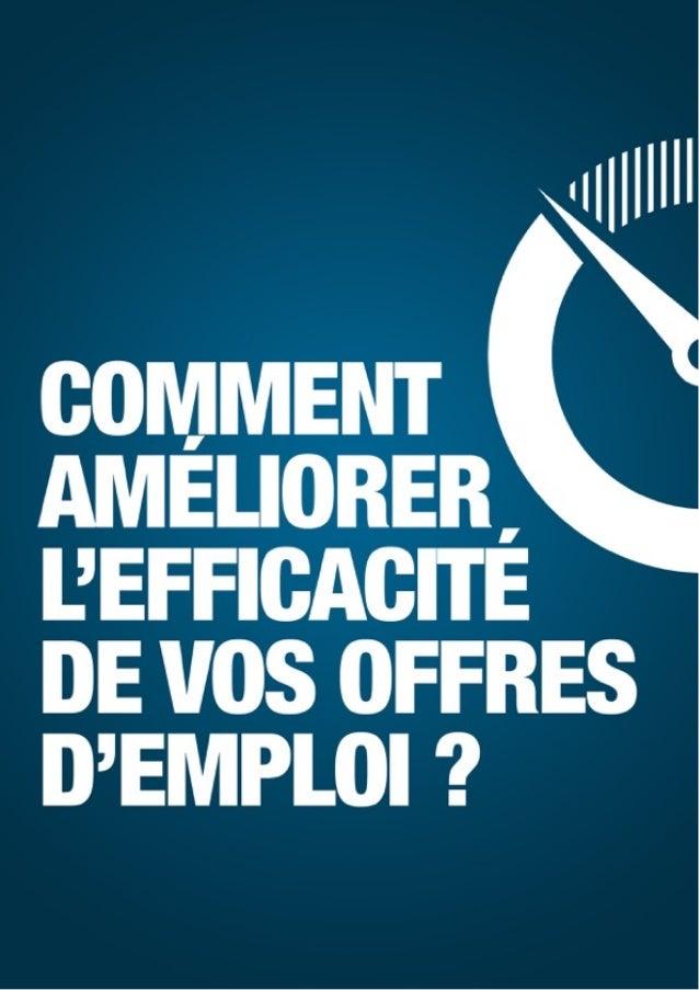 """Comment améliorer l'efficacité de vos offres d'emploi ? - Tous droits réservés par QAPA© Page""""1"""