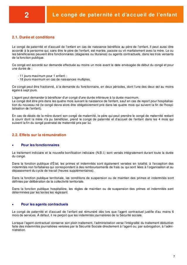 Guide Conges Familiaux Et Temps Partiel Fonction Publique