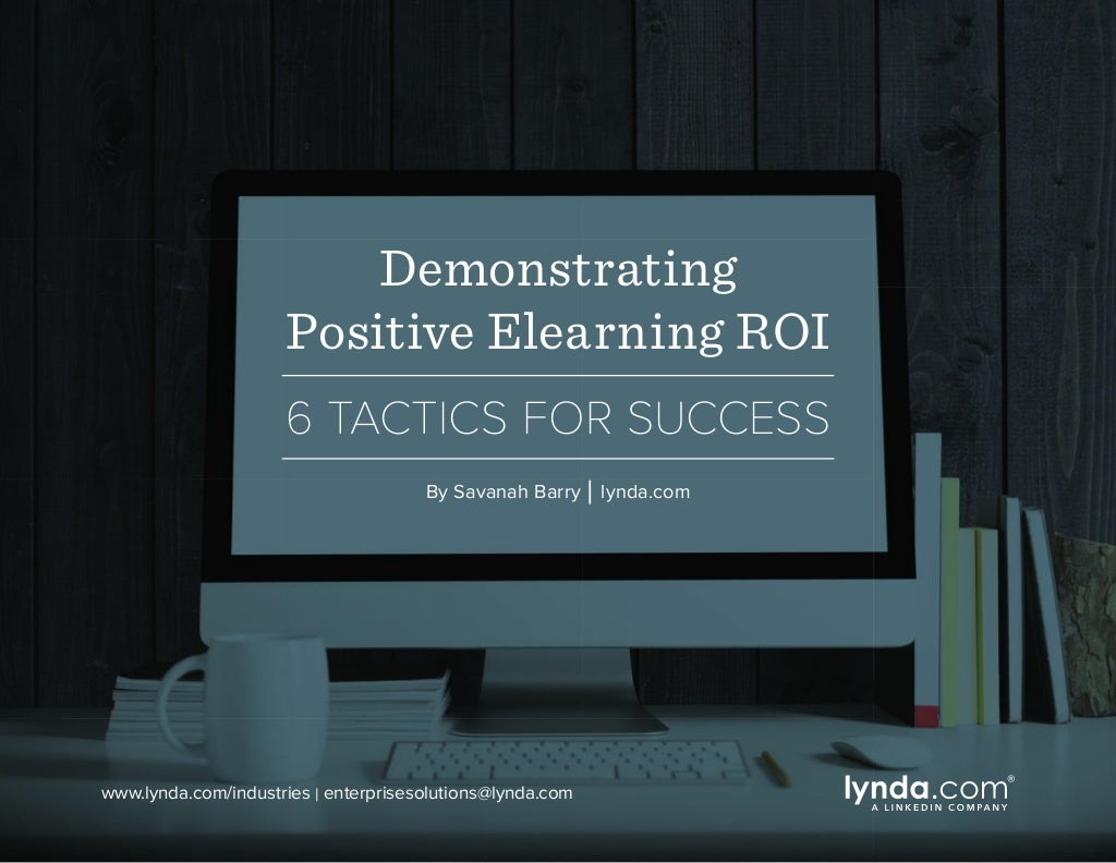 Demonstrating Positive Elearning ROI