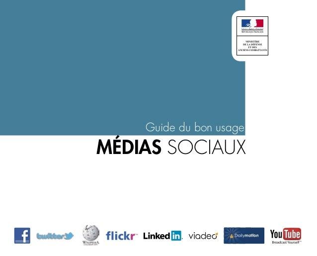 Guide du bon usage médias sociaux