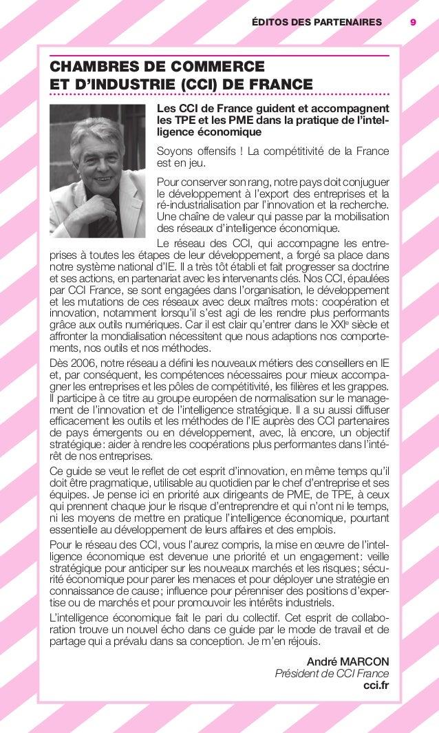 ÉDITOS DES PARTENAIRES              9                        CHAMBRES DE COMMERCE                        ET D'INDUSTRIE (C...