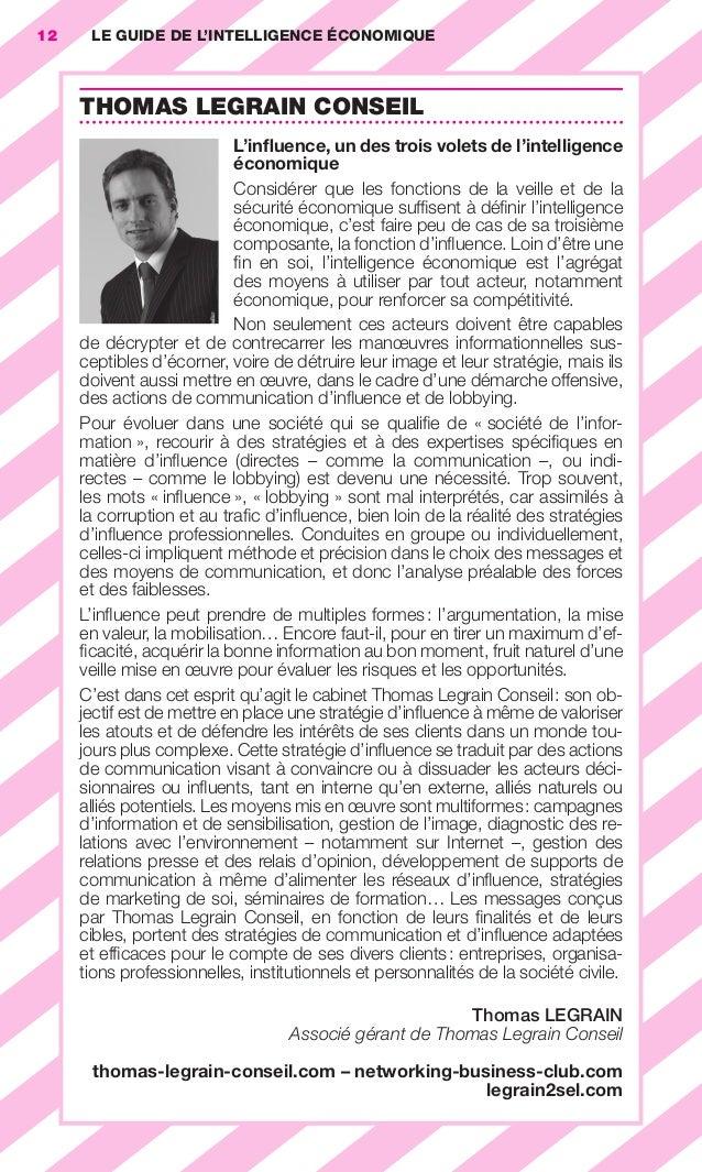 12       LE GUIDE DE L'INTELLIGENCE ÉCONOMIQUE                        THOMAS LEGRAIN CONSEIL                              ...